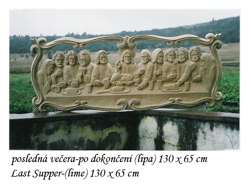 Last Supper with carved frame