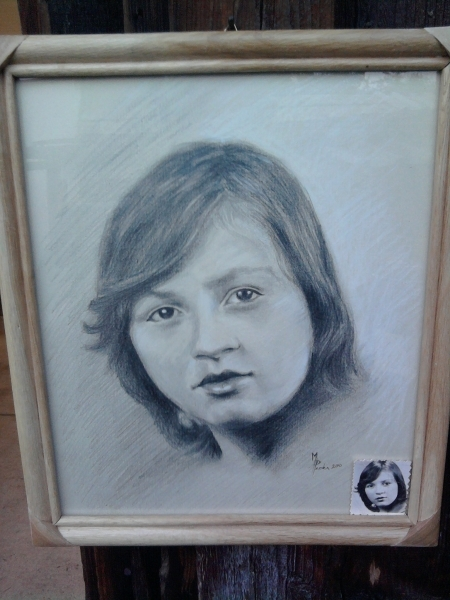 Portret Zeny I Maľba A Kresba Matus Proks