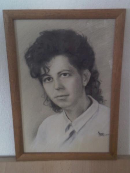 Portret Zeny Ii Maľba A Kresba Matus Proks